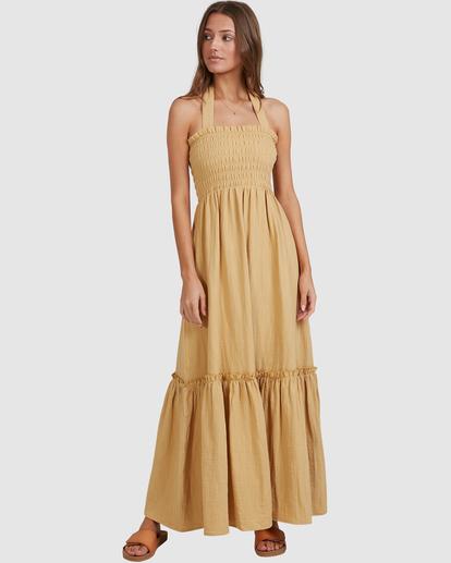 4 Charlotte Maxi Dress Yellow ABJWD00395 Billabong