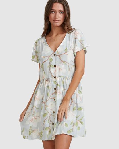 7 Moonflower Mini Dress Green ABJWD00398 Billabong