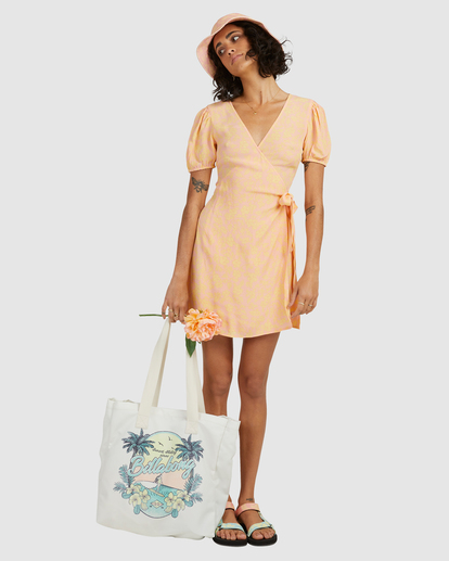 6 Hot Tropics Wrap Mini Dress Multicolor ABJWD00413 Billabong