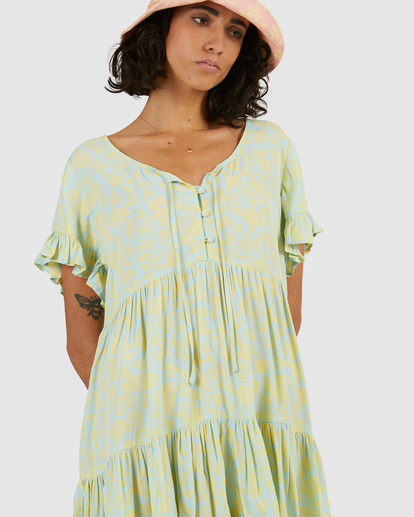 4 Hot Tropics Mini Dress Blue ABJWD00414 Billabong