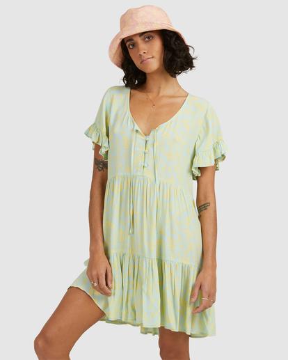 0 Hot Tropics Mini Dress Blue ABJWD00414 Billabong