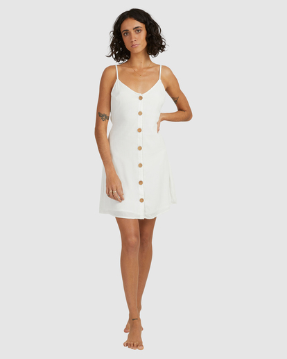 5 Sweet For Ya Mini Dress White ABJWD00415 Billabong