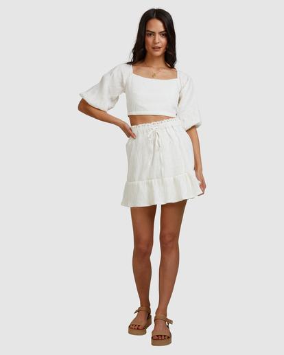7 Island Mini Skirt White ABJWK00135 Billabong