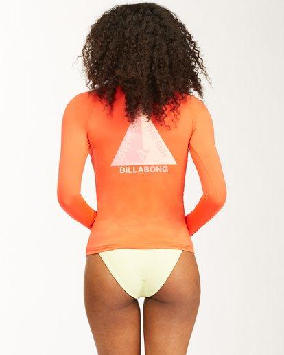 2 Surfadelic Long Sleeve Rashguard Orange ABJWR00116 Billabong