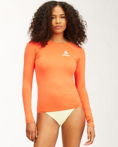 0 Surfadelic Long Sleeve Rashguard Orange ABJWR00116 Billabong