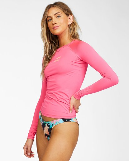 1 Tropic Time Long Sleeve Rashguard Pink ABJWR00133 Billabong