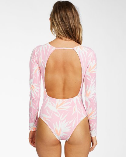 2 Another Paradise Long Sleeve Swimsuit Pink ABJWR00136 Billabong