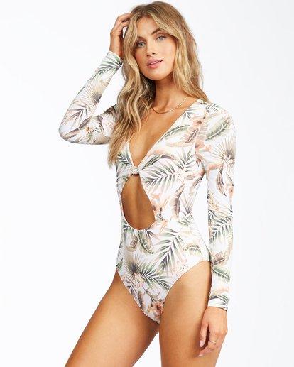 1 Take Me To Paradise Long Sleeve Swimsuit Grey ABJWR00137 Billabong