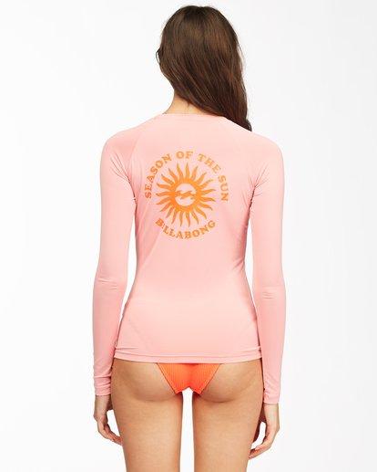 2 Summer High Long Sleeve Rashguard Pink ABJWR00138 Billabong
