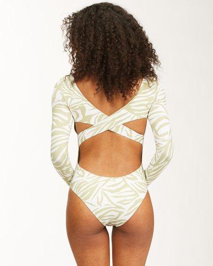 3 Jungle Town Long Sleeve Swimsuit Green ABJWR00181 Billabong