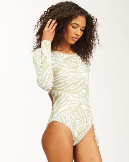 2 Jungle Town Long Sleeve Swimsuit Green ABJWR00181 Billabong