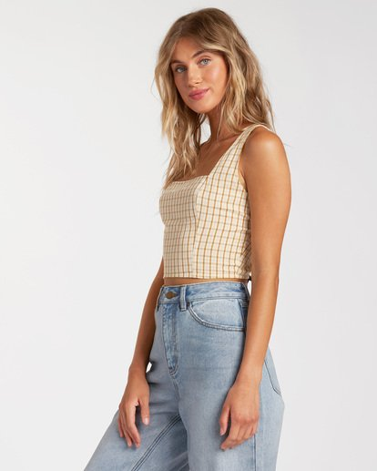 1 Check It Crop Top Grey ABJWT00132 Billabong