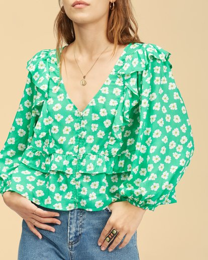 3 Wrangler Romance Me Top Green ABJWT00236 Billabong