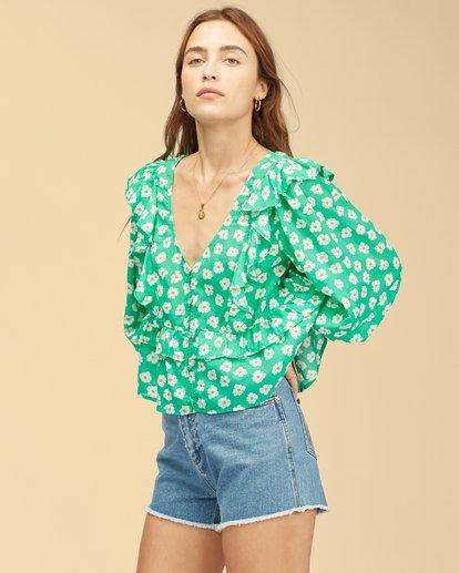 1 Wrangler Romance Me Top Green ABJWT00236 Billabong