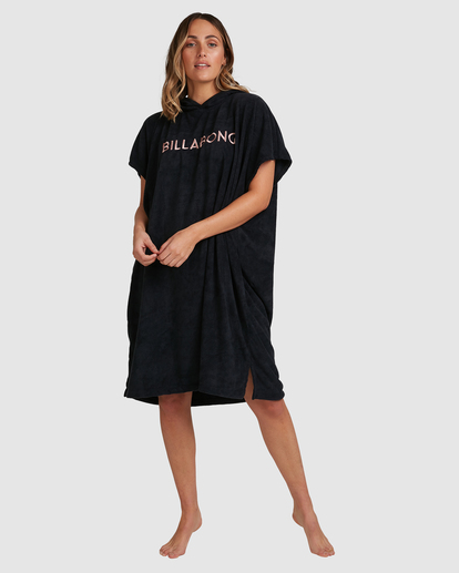 1 Billabong Hoodie Changing Towel Black ABJWW00105 Billabong