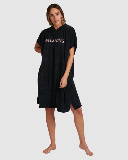 7 Billabong Hoodie Changing Towel Black ABJWW00105 Billabong