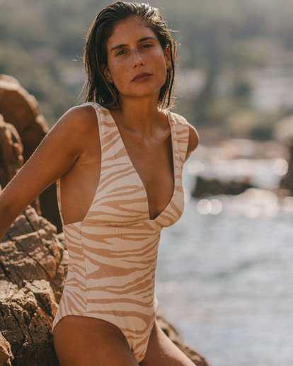 0 Wild Groove One Piece Swim Brown ABJX100102 Billabong