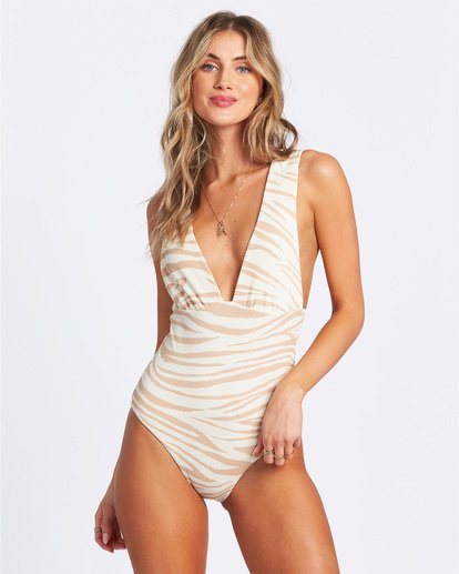 2 Wild Groove One Piece Swim Brown ABJX100102 Billabong