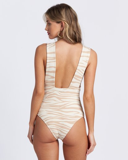 7 Wild Groove One Piece Swim Brown ABJX100102 Billabong