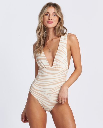 5 Wild Groove One Piece Swim Brown ABJX100102 Billabong