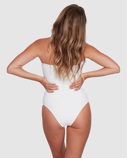 2 Tanlines Bandeau One Piece White ABJX100134 Billabong