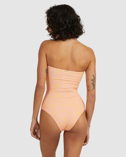 4 Hot Tropics Summer Bandeau One-Piece Swimsuit Multicolor ABJX100172 Billabong
