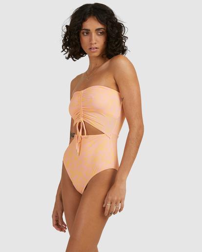 1 Hot Tropics Summer Bandeau One-Piece Swimsuit Multicolor ABJX100172 Billabong