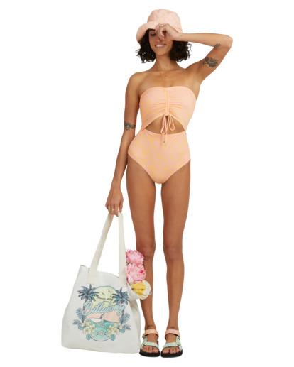 3 Hot Tropics Summer Bandeau One-Piece Swimsuit Multicolor ABJX100172 Billabong