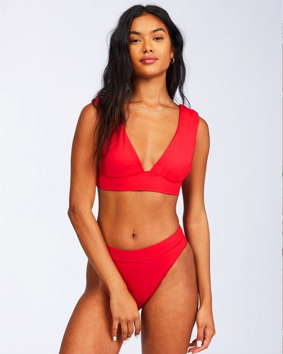1 Sol Searcher Plunge Bikini Top Red ABJX300102 Billabong