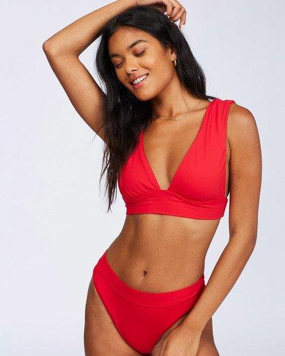 10 Sol Searcher Plunge Bikini Top Red ABJX300102 Billabong