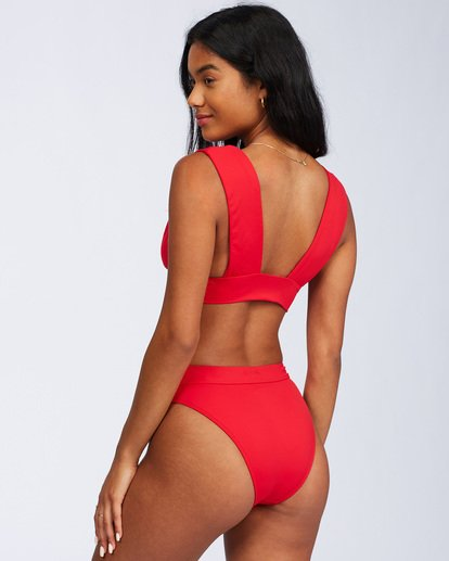 8 Sol Searcher Plunge Bikini Top Red ABJX300102 Billabong
