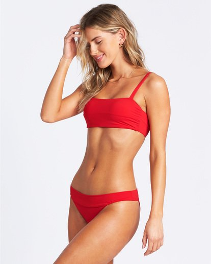 1 Sol Searcher Strappy Tank Bikini Top Red ABJX300103 Billabong