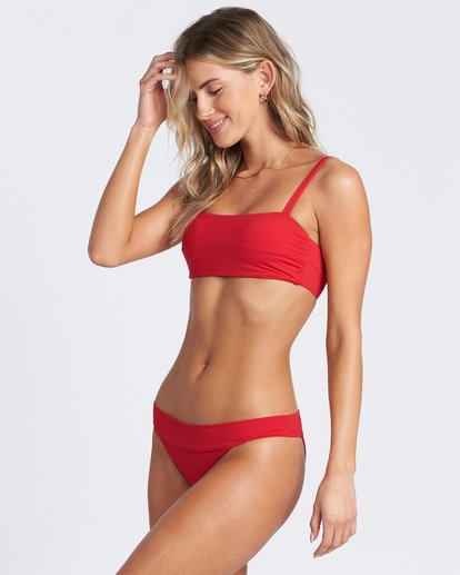 4 Sol Searcher Strappy Tank Bikini Top Red ABJX300103 Billabong
