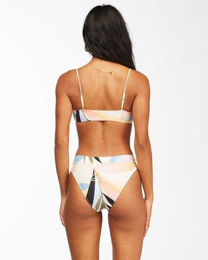 2 Last Rays Skinny Mini Crop Bikini Top Grey ABJX300104 Billabong
