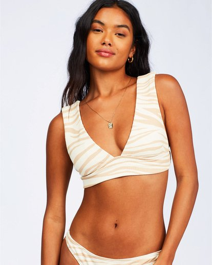 3 Wild Groove Plunge Bikini Top Brown ABJX300113 Billabong