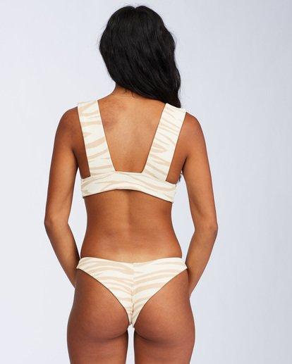 9 Wild Groove Plunge Bikini Top Brown ABJX300113 Billabong