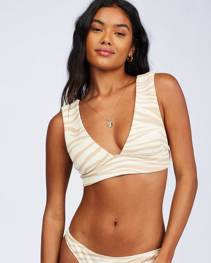 8 Wild Groove Plunge Bikini Top Brown ABJX300113 Billabong