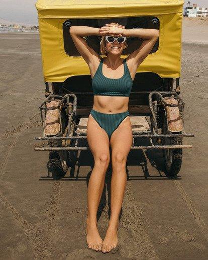 1 Sunny Rib Banded Triangle Bikini Top Green ABJX300124 Billabong