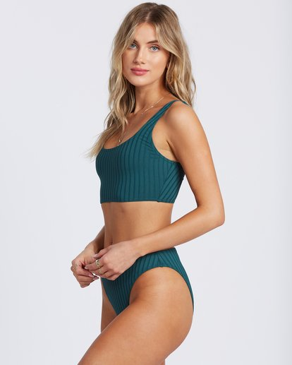 5 Sunny Rib Crop Tank Bikini Top Green ABJX300125 Billabong