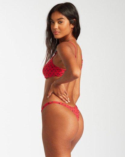 2 Falling Light Skinny Mini Crop Bikini Top Red ABJX300126 Billabong
