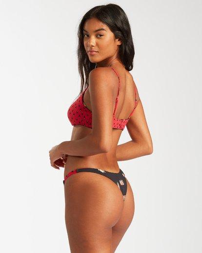 5 Falling Light Skinny Mini Crop Bikini Top Red ABJX300126 Billabong