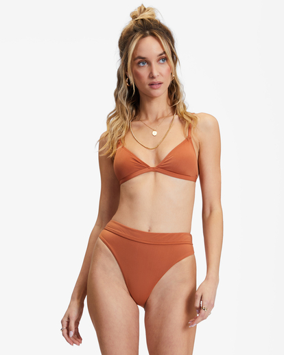 0 Sol Searcher Ceci Triangle Bikini Top Brown ABJX300134 Billabong