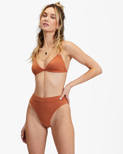 1 Sol Searcher Ceci Triangle Bikini Top Brown ABJX300134 Billabong