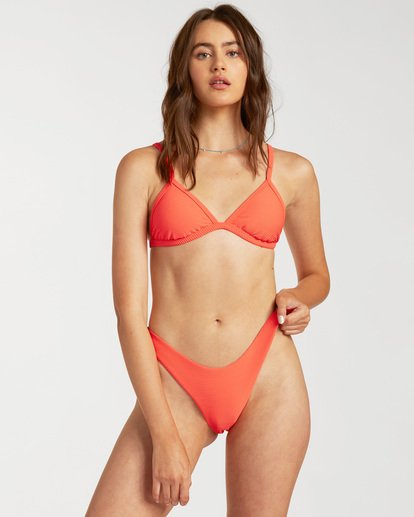 1 Tanlines Ivy Triangle Bikini Top Orange ABJX300135 Billabong