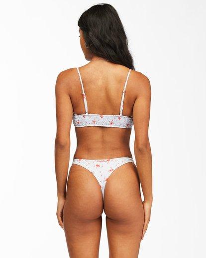 3 On The Path Mini Crop Bikini Top White ABJX300177 Billabong