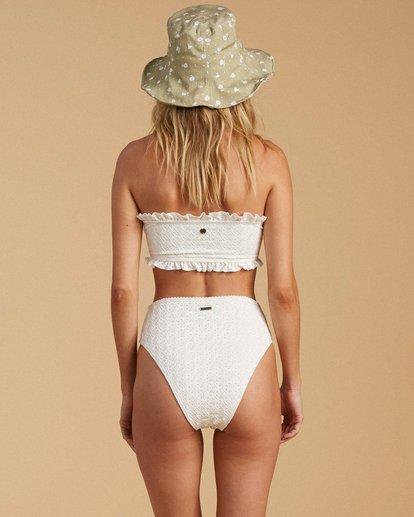 3 Salty Blonde By The Seashore Tube Top Bikini Top White ABJX300196 Billabong