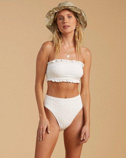 1 Salty Blonde By The Seashore Tube Top Bikini Top White ABJX300196 Billabong