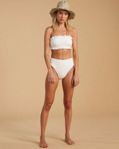 4 Salty Blonde By The Seashore Tube Top Bikini Top White ABJX300196 Billabong