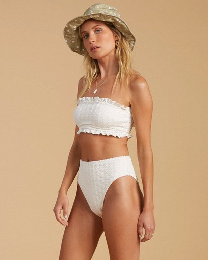 2 Salty Blonde By The Seashore Tube Top Bikini Top White ABJX300196 Billabong