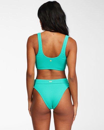 2 Summer High Crop Tank Bikini Top Green ABJX300205 Billabong